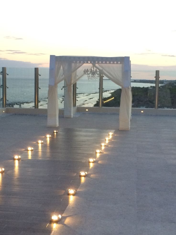 Sky weddings are now available at Generations Riviera Maya. Spectacular views to walk down the aisle just before sundown