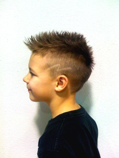 Lightning Bolt Haircut Kids Fashion In 2019 Boys Mohawk Hair