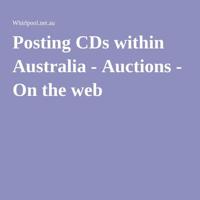 Posting CDs within Australia - Auctions - On the web