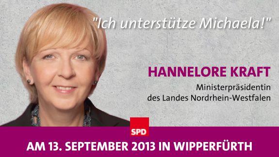 Hannelore Kraft unterstützt Michaela Engelmeier-Heite