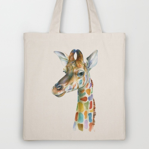 Giraffe Tote Bag by Brandon Keehner