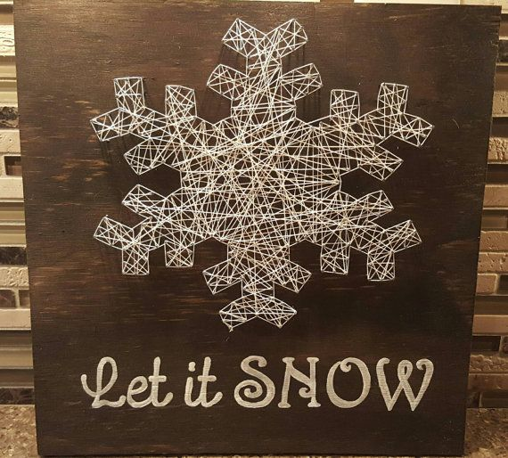 Let it Snow Nail string art by TheNailedMitten on Etsy