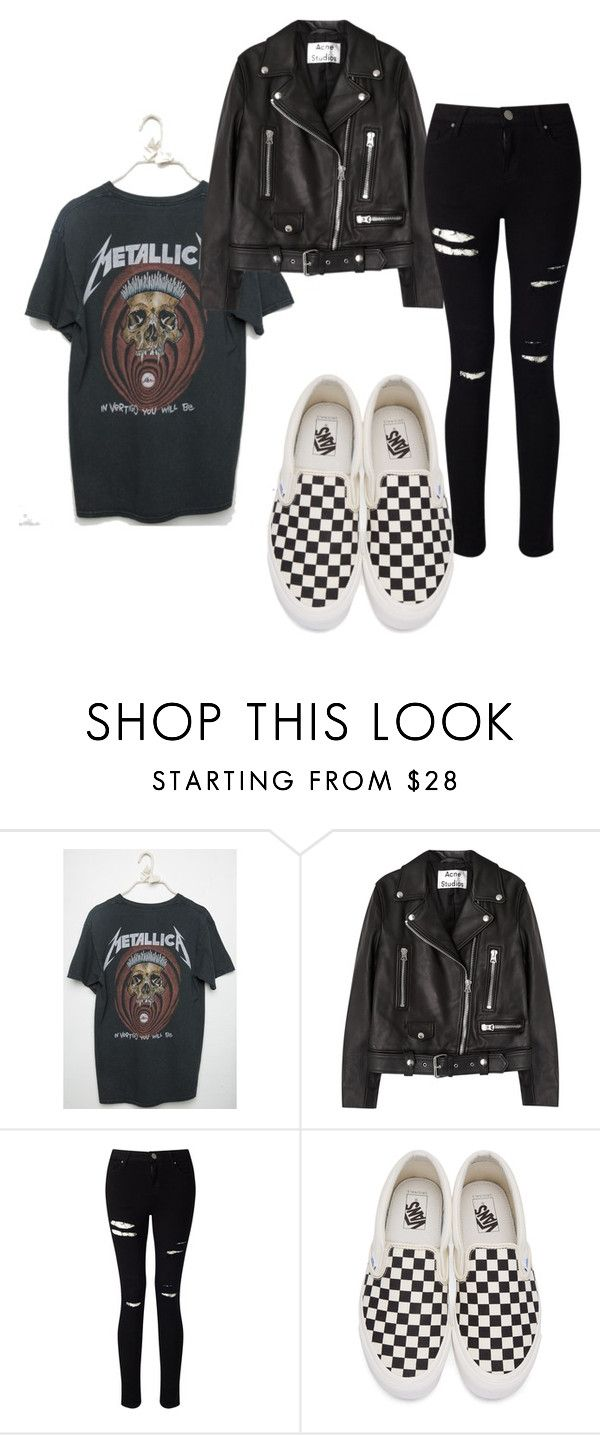 """""""Checker Vans"""" By Queen-100 On Polyvore Featuring Acne"""