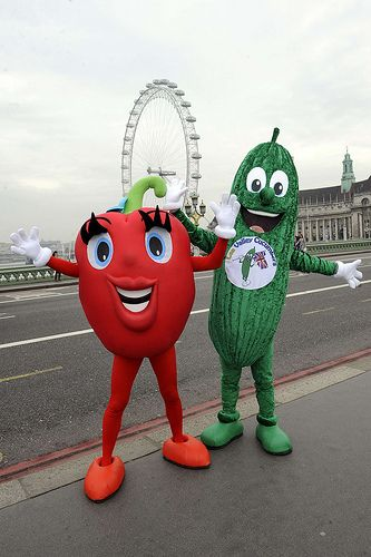 Red #pepper #food #vegetable #mascot #costume