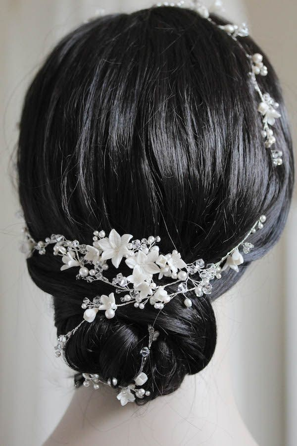 prom hair styles for hair reem acra inspired silver bridal hair vine for 2532