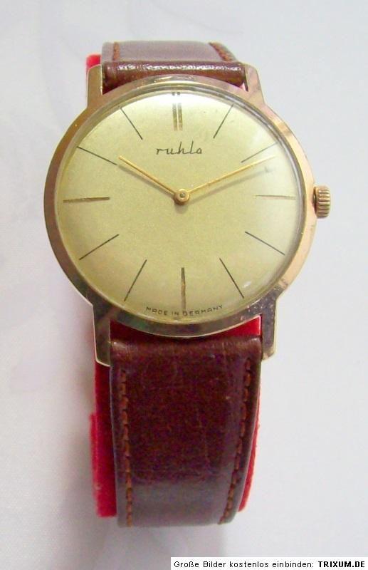 Ruhla Uhr Herren Armbanduhr mechanically gents watch