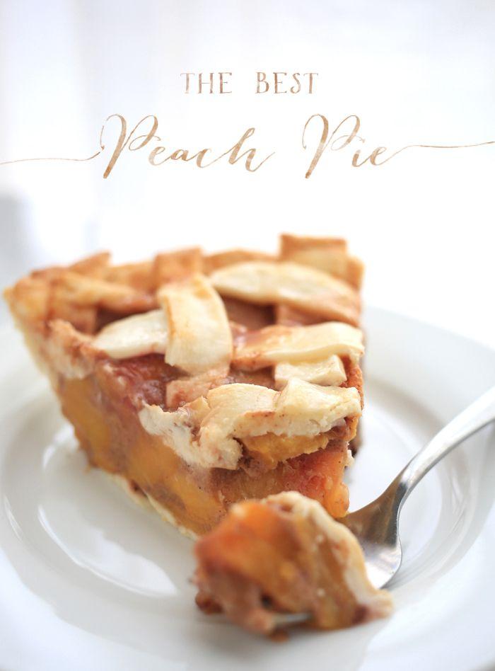The Best Peach Pie recipe - Refined Sugar Free!
