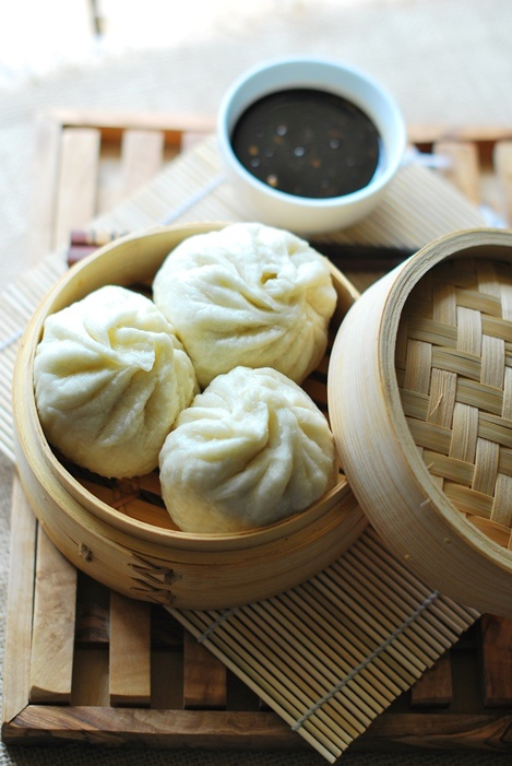 Banh Bao , brioches vietnamiennes à la viande / Vietnamese steamed bun with meat
