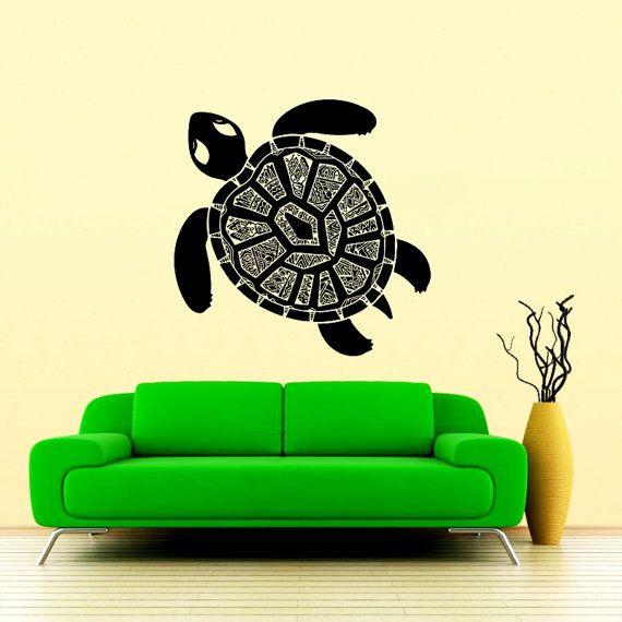 Tartaruga parete decalcomania tartaruga tartaruga oceano mare decalcomanie parete vinile adesivo Interior Home Decor Wall Decor camera da letto bagno murale SV6175