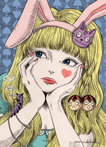 I'm obsessed with Alice in Wonderland. This is the first time I've come across this pic......and I love it!! :)