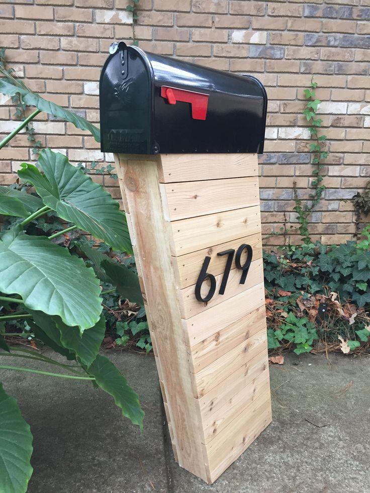 The Modpost,Midcentury Mailbox, Cedar Mailbox, Custom Mailbox, Handmade, Mailbox, Rustic Mailbox by SawdustandCedar on Etsy