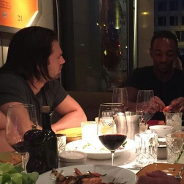 Sebastian ✪ Stan out with Anthony Mackie