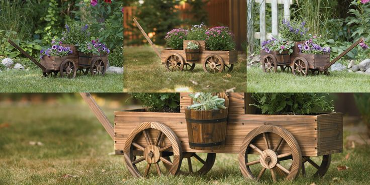 Wooden Wagon Planter — Get Your Garden Rolling