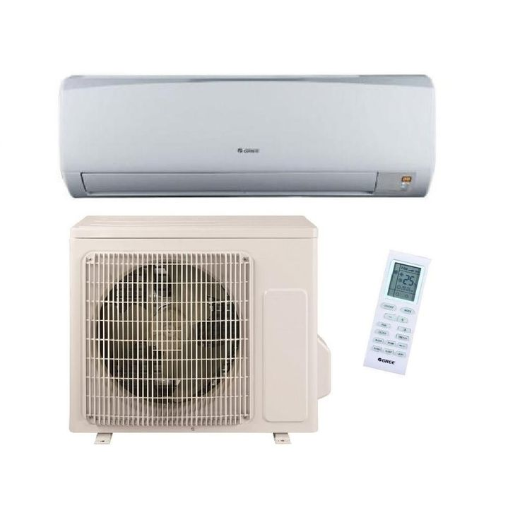 High Efficiency 9,000 BTU (3/4 Ton) Ductless (Duct Free) Mini Split Air Conditioner with Inverter Heat and Remote 115V, Beige/Bisque