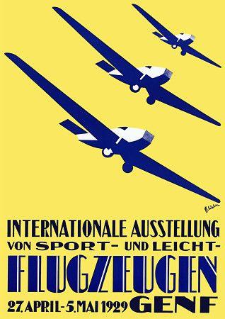 International Airshow. Art Deco aviation poster. 1929 http://www.vintagevenus.com.au/products/vintage_poster_print-tr301