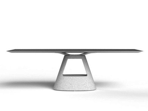 TABLE B Tavolo in cemento by BD Barcelona Design design Konstantin Grcic