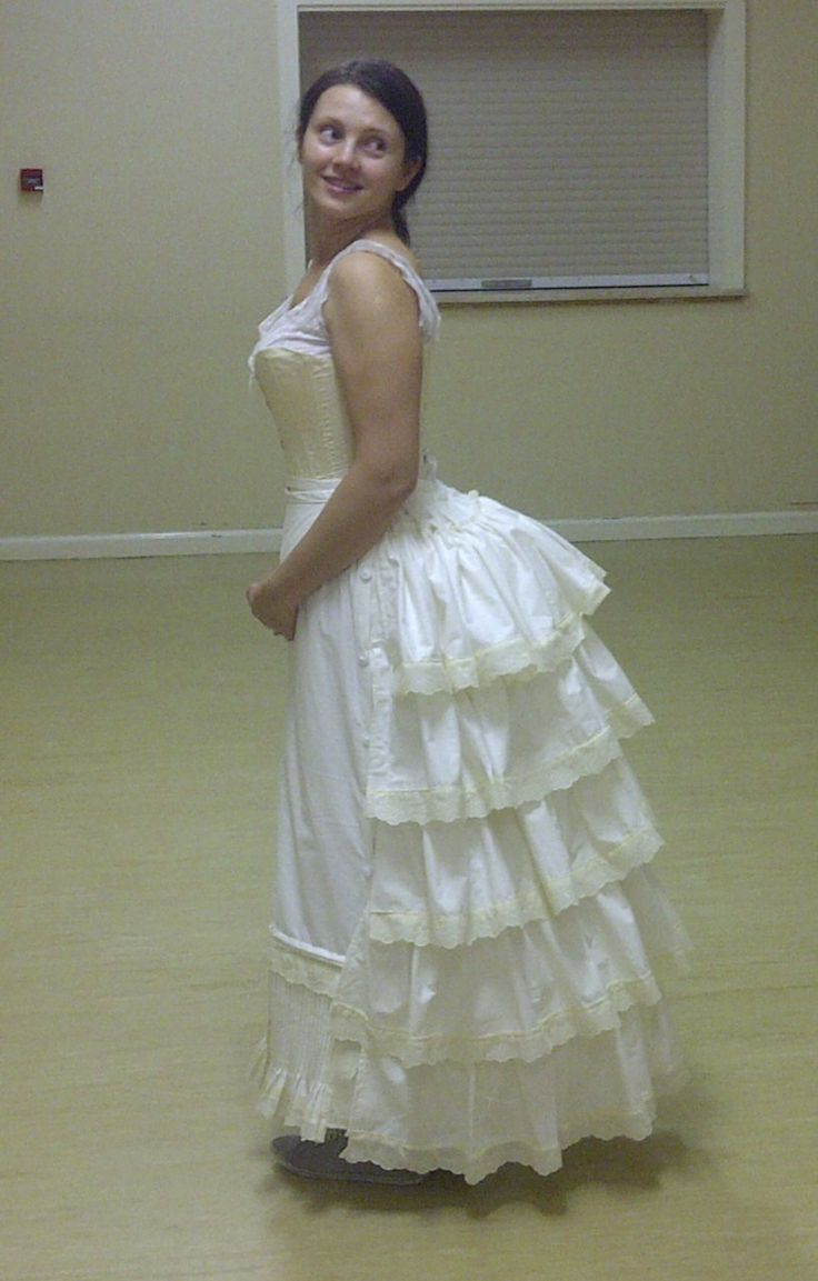 How to make a Victorian flounced Petticoat.