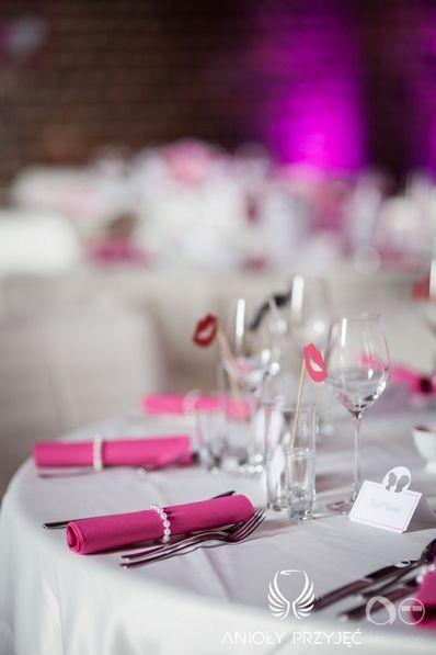 13. Fuchsia Wedding,Tablescape,Table decor / Wesele fuksjowe,Dekoracje stołu,Anioły Przyjęć