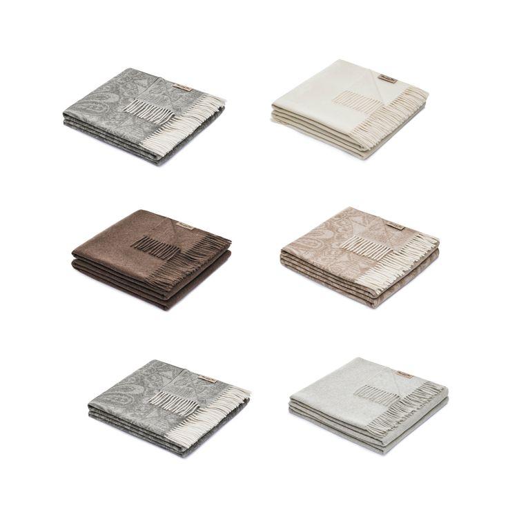Découvrez notre sélection de plaids en cachemire.  Disponible sur www.inspiration-luxe.com #plaid #plaiddesign #cachemire #design #confort #designhome #contemporain #plaidtendance