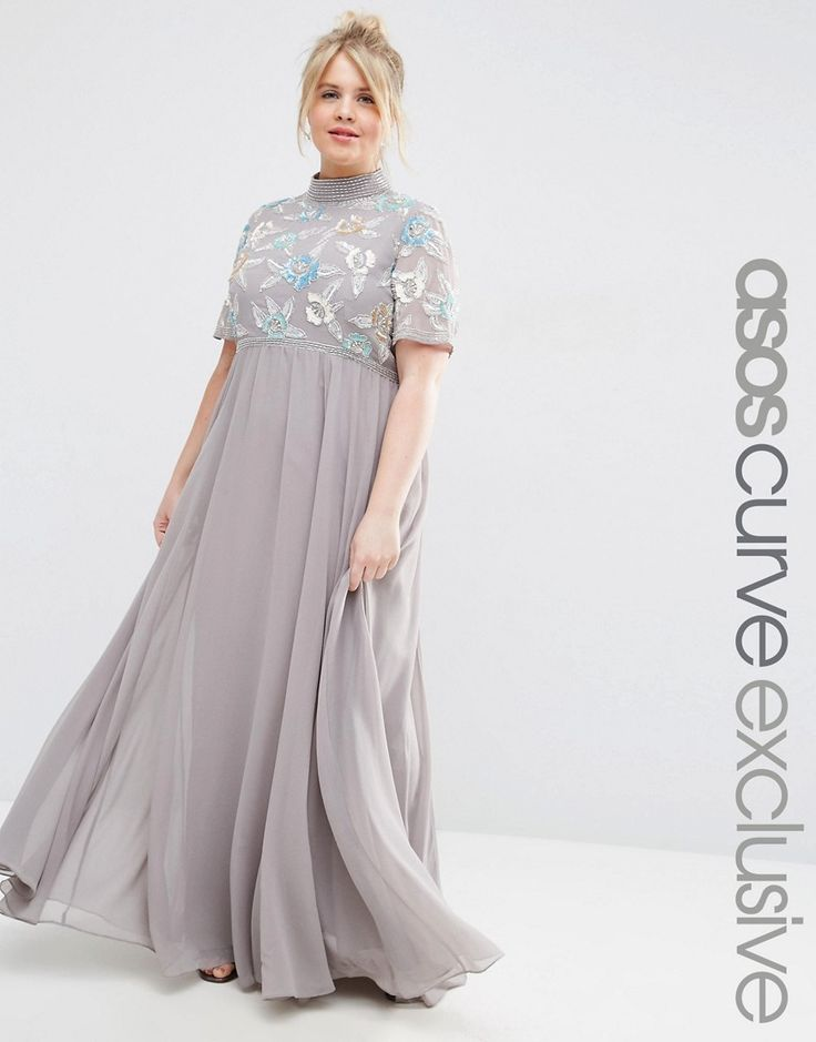 asos curve high neck embellished maxi dress asos kleid