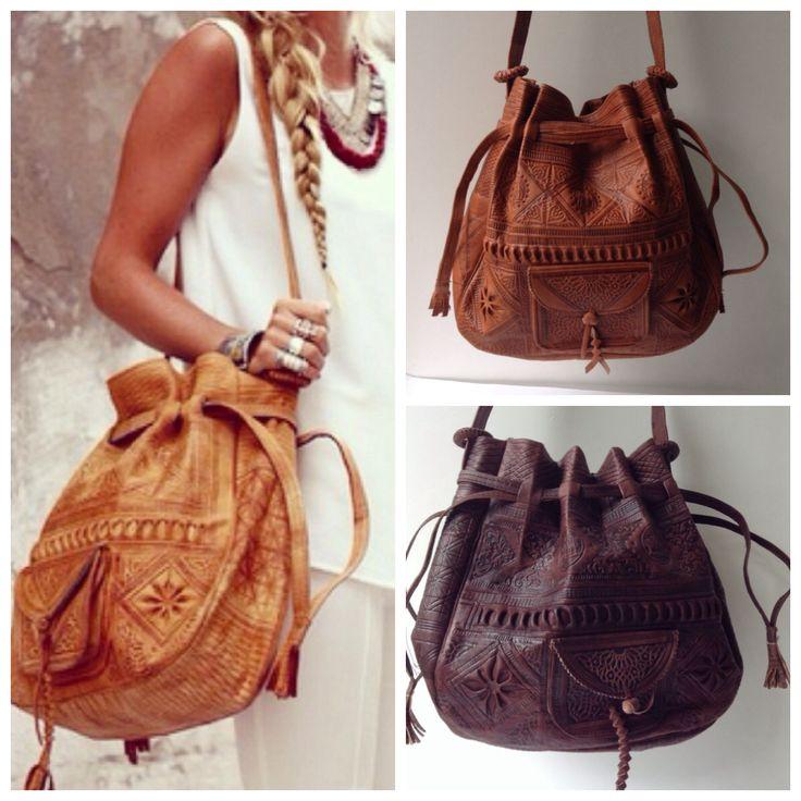 Moroccan Rabat leather bags