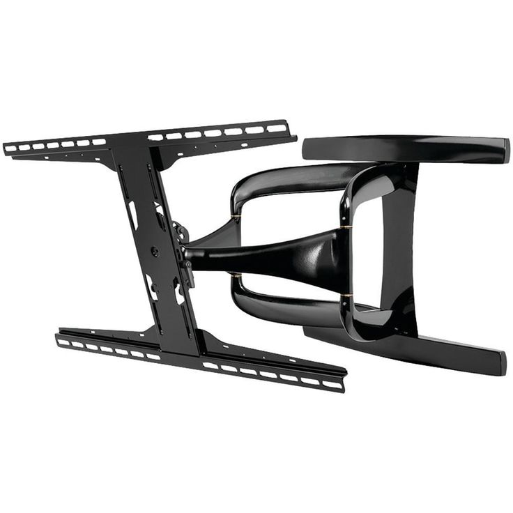PEERLESS-AV SUA771PU 42-90 DesignerSeries(TM) Ultraslim Articulating Flat Panel Mount. Fits 42-90 ultrathin TVs;  Holds up to 125lbs;  One-Touch(TM) tilts -5?-15?;  Swivels +/-90? side-to-side;  Rolls +/-5? for post-installation leveling;  Adjusts +/-.5? vertically for fine tuning;  Dual-arm design enhances the stability of the articulating motion;  Arm retracts to 1.85 & extends up to 24.85 from the wall;  VESA(R) 200 x 100 & 800 x 400 compatible;  Internal cable management;  Includes 1…