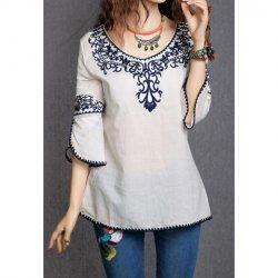 Grace Lace Splicing Crochet Flower 1/2 Sleeve Women's BlouseVintage Blouses | RoseGal.com