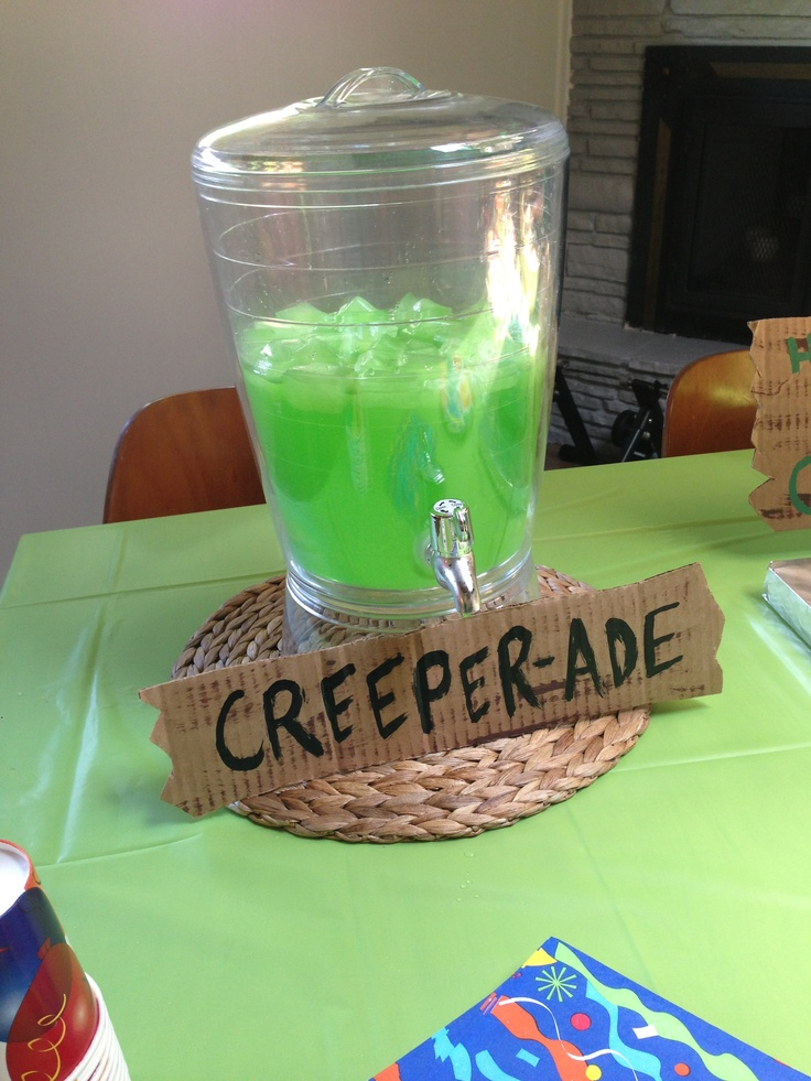 Creeperade (add Creeper black face to dispenser)