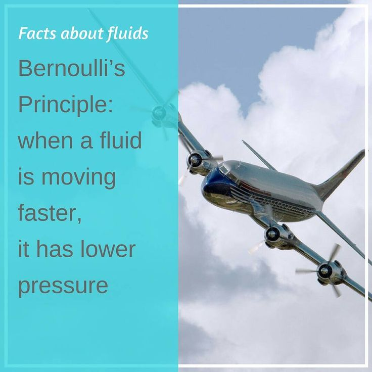 Daniel Bernoulli (1700-1782) was a Swiss mathematician and physicist best known for his work involving fluid dynamics.  From his experiments Bernoulli concluded that when a fluid is moving faster it has lower pressure. This is known as Bernoullis Principle and it is used to explain many scientific ideas from the movement of weather systems to the lift created by an airplanes wing.  #factsaboutfluids #interesting #facts #funfacts  #science #aircraft #industrialpumps #pump #pumps #fluidpump…