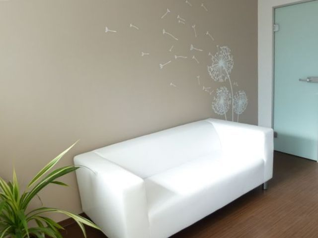 Dandelion wall sticker in waiting room