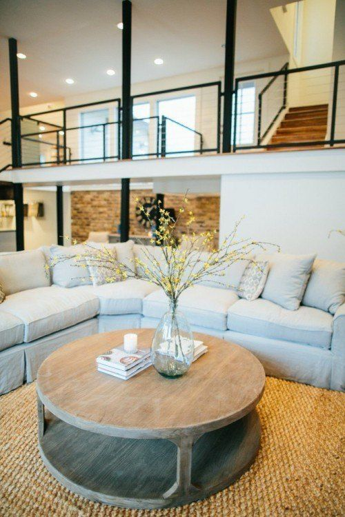 Love the idea of a balcony looking  over the living room, a great way to open up the space