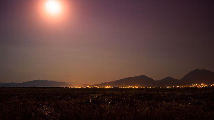 #night #moon #stars #Landscapes © www.asoimu.com