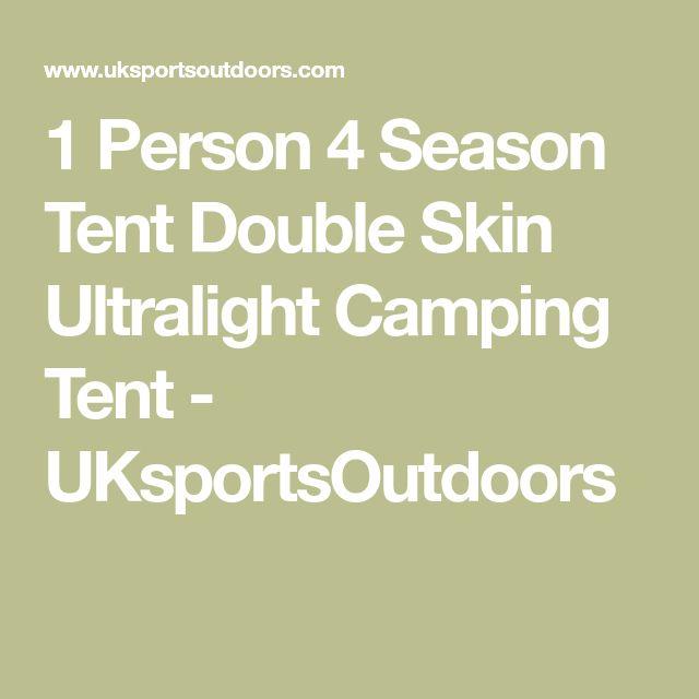 1 Person 4 Season Tent Double Skin Ultralight Camping Tent - UKsportsOutdoors
