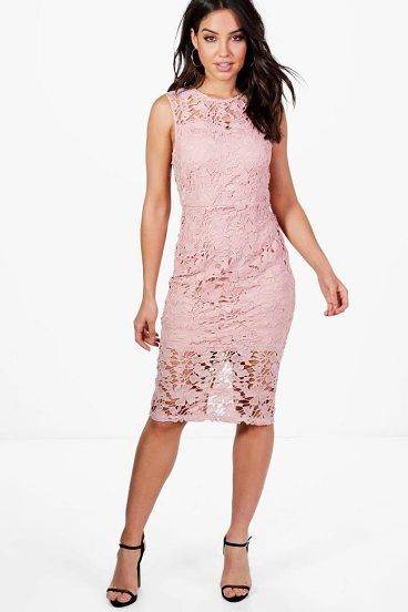 Boutique Eleanor Lace Sleeveless Midi Dress by Boohoo. Dresses are the most-wanted wardrobe item for day-to-night dressing. From cool-tone whites to block brights, we've got the everyday skater dresses and party-ready bodycon styles that are perfect for transitioning from day to play. Minis,... #boohoo #dresses