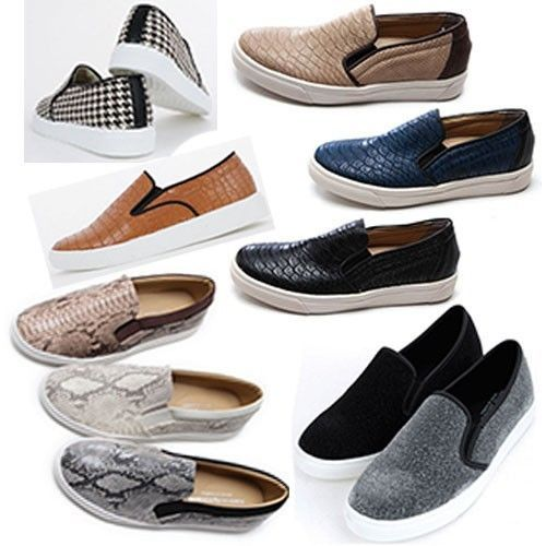 Slip On Flats Sneakers Women's Shoe Casual Loafer Low Top Classic US 8.5 ~ 9.5