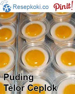 Cara Membuat Puding Telur Ceplok