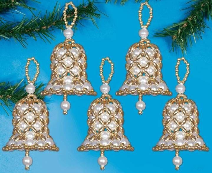 59 best Beaded bells images on Pinterest  Beaded christmas