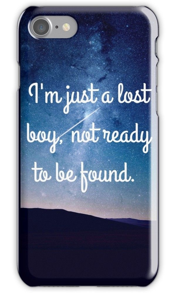 best service 7d98e 714ba Lost Boy' iPhone Case by LukeHardesty | I Want | Iphone cases, Lost ...