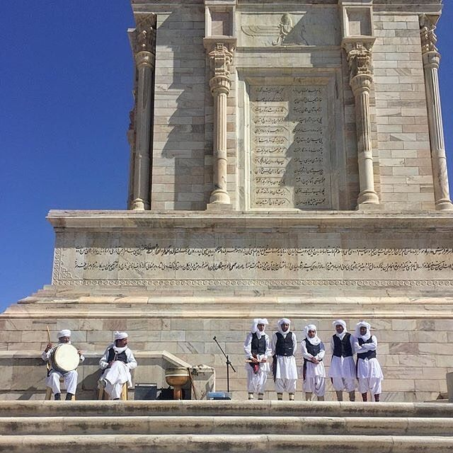 Baloch Musicians during the Iranian New Year Celebration at the tomb of Ferdowsi.