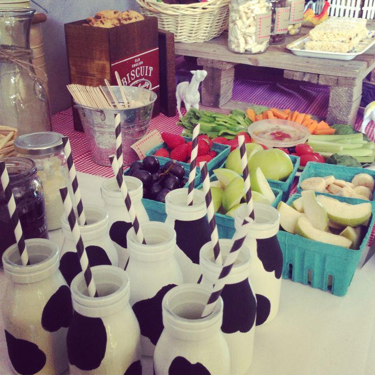 Custom made milk bottles.