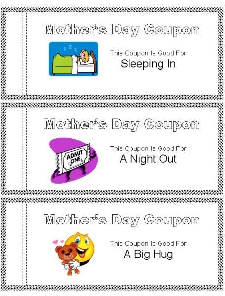 mother day coupon book xv-gimnazija