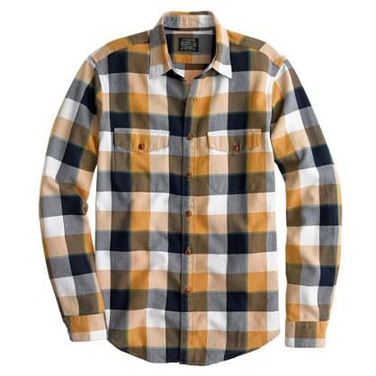 Honey   Flannel shirt in classic herringbone plaid from jcrew.  50% off with coupon code SALEFUN (July 2014)