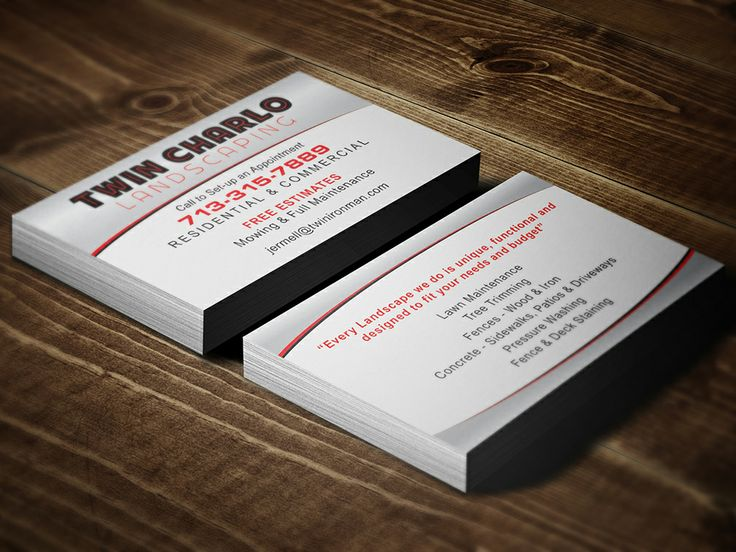 27 best business cards images on pinterest business cards sugar charlo landscaping business designed printed by alphagraphics sugar land reheart Image collections