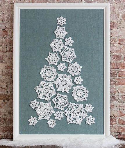 Tree of Snowflakes Free Crochet Pattern in Red Heart Yarns