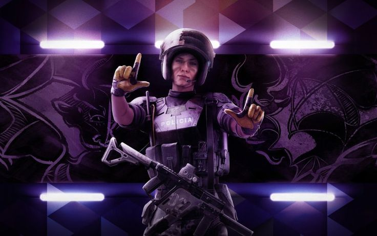 Tom Clancy's Rainbow Six Siege video game, girl soldier
