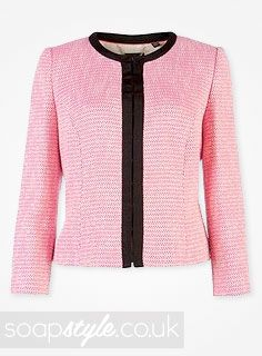 EastEnders Roxy Mitchell // Rita Simons // Roxy's Sparkly Pink Blazer Jacket - 25th December '13 [ Click photo for details ❤ ]