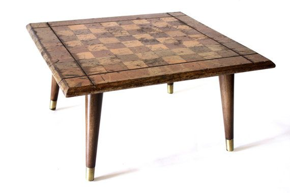 MidCentury Game Table // Checkers Chessboard // by weareMFEO