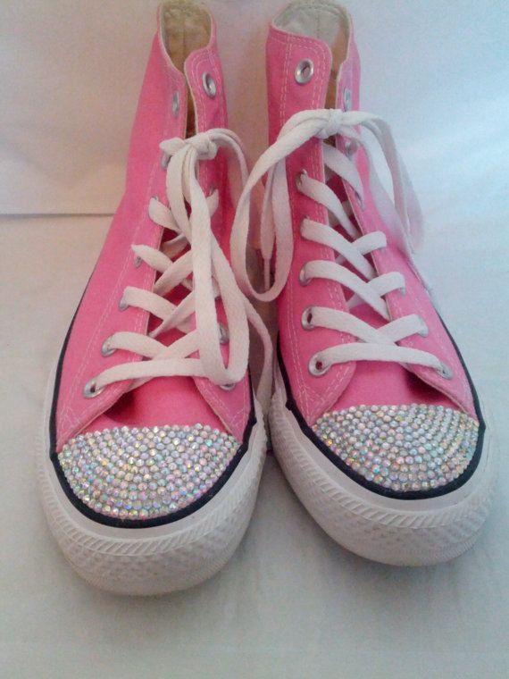 Custom Rhinestoned Shoes Toe Only by CaliRhinestones on Etsy