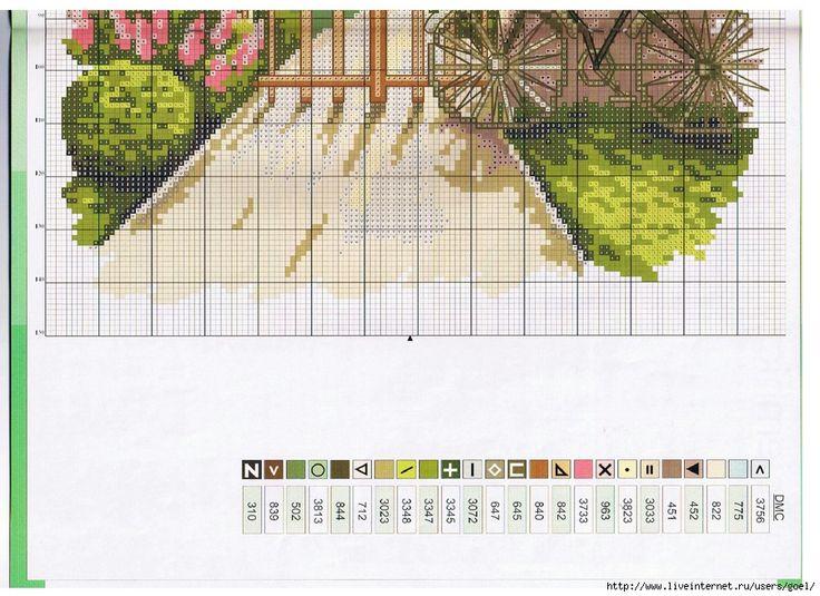 bahçe temalı etamin şablonu