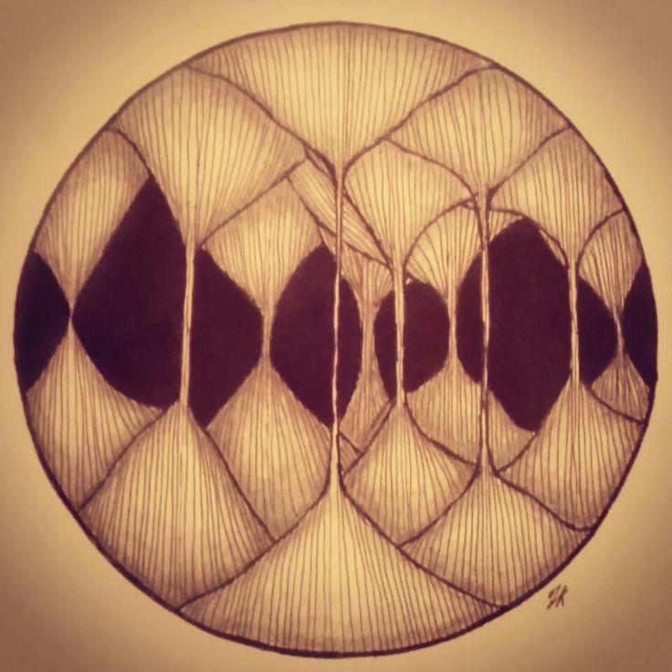 """""""peepholes 6"""" zentangle art"""